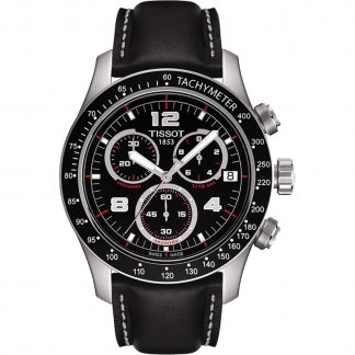 Men's V8 Chronograph Leather Strap Watch T039.417.16.057.02