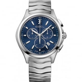 Men's Wave Quartz Chronograph Watch