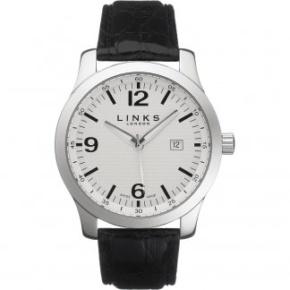 Men's White Dial Capital Watch