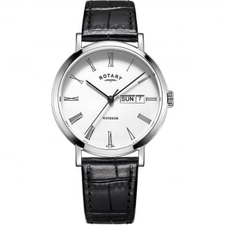 Men's Windsor Day/Date Leather Strap Watch