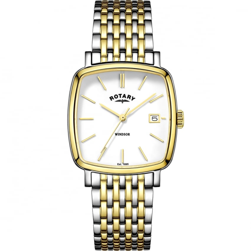 Rotary Men's Windsor Two Tone Cushion-Shaped Watch GB05306/01