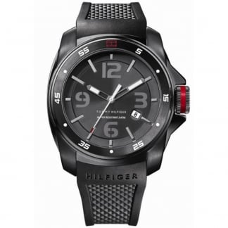 Men's Windsurf Black Rubber Sports Watch