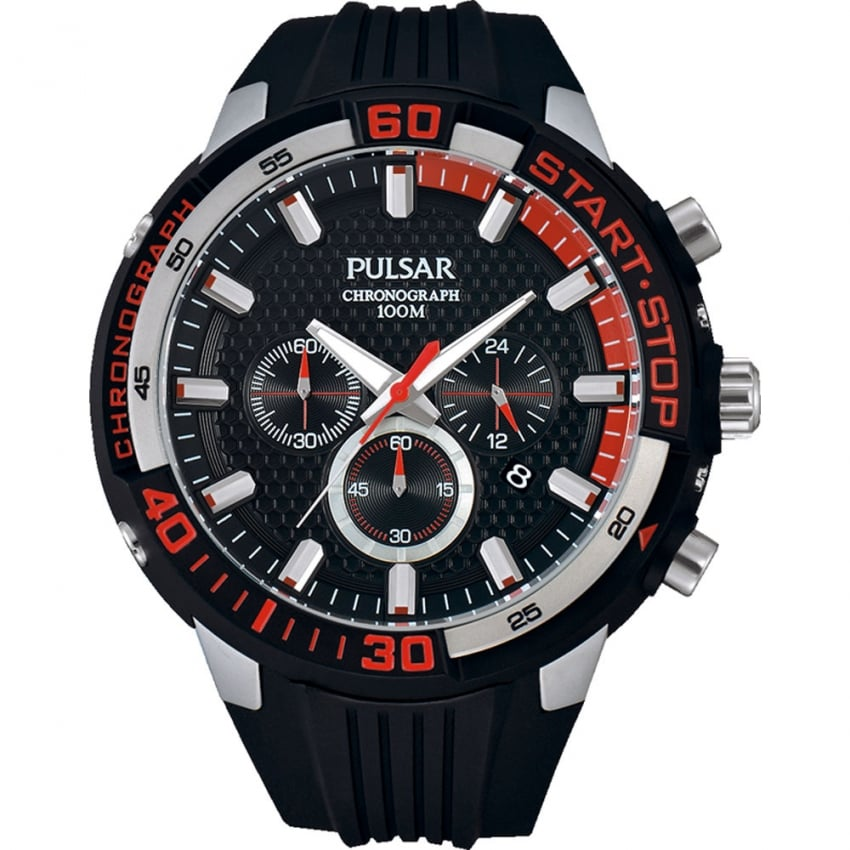 Men's X Collection Chronograph Resin Strap Watch PT3697X1