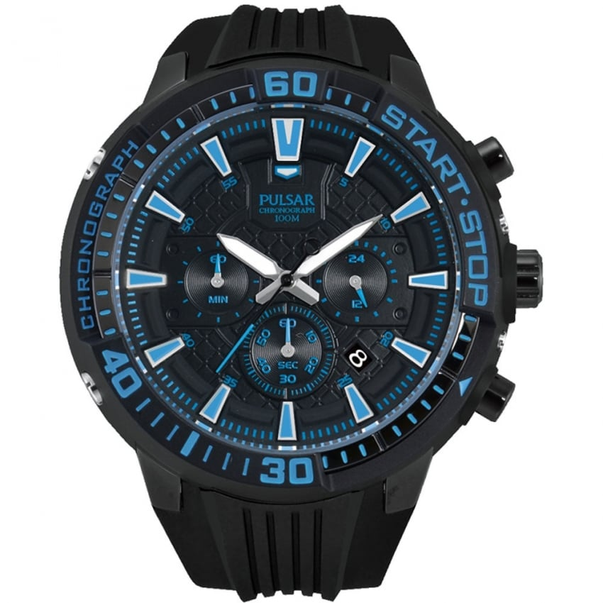 Men's X Collection Chronograph Watch With Blue Detail PT3507X1