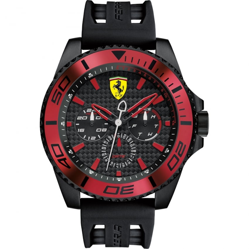 Scuderia Ferrari Men's XX Kers Multifunction Watch with Red Accents 0830310