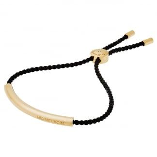 Black & Gold Nautical Slider Bracelet MKJ5308710