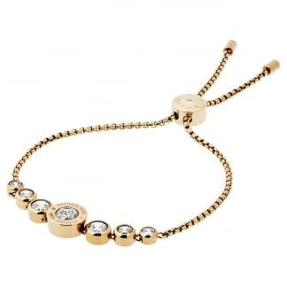 Gold Plated MK Logo Slider Bracelet MKJ5334710
