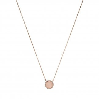 Blush & Crystal Set Rose Gold Necklace MKJ4330791