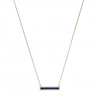 Brilliance Gold Tone & Blue Lapis Necklace