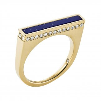 Brilliance Gold Tone & Blue Lapis Ring