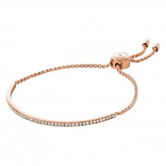 Crystal Set Rose Gold Slider Bracelet