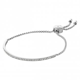 Crystal Set Steel Slider Bracelet