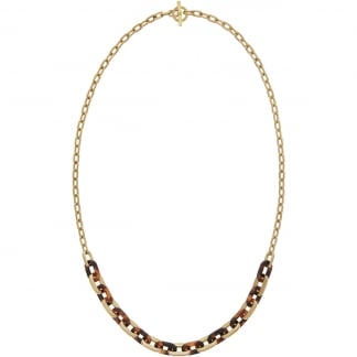 Gold and Tortoiseshell Link Necklace MKJ5434710