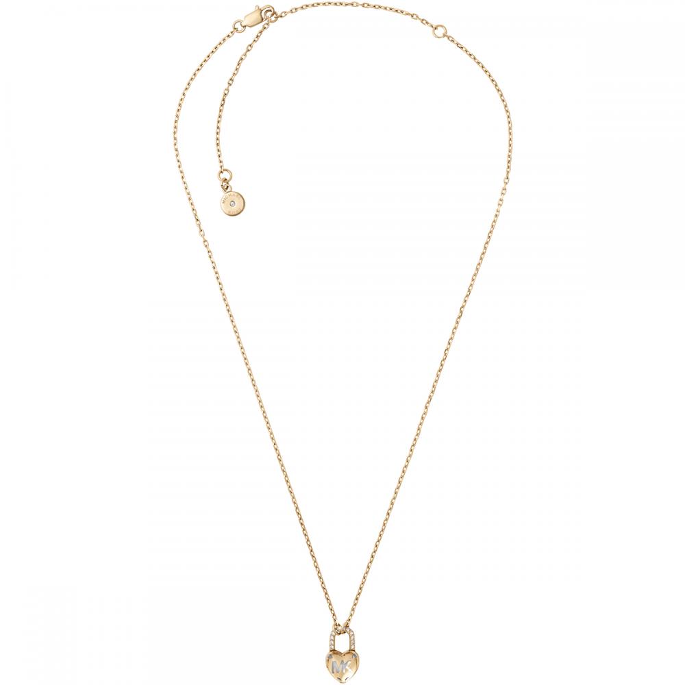 b523a69dfa7c Michael Kors Gold MK Heart Padlock Necklace - Jewellery from Francis ...