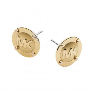 Gold MK Logo Stud Earrings MKJ1666710
