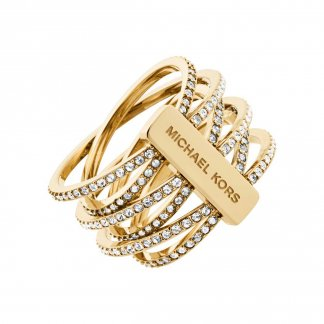 Gold Multi Strand Statement Ring