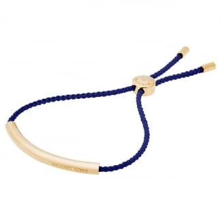 Gold & Navy Nautical Slider Bracelet MKJ5310710