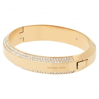 Gold Plated and Stone Set Chunky Bangle MKJ5500710