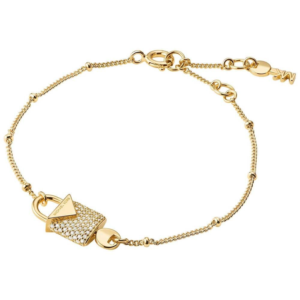44baba002ce0 Michael Kors Gold Plated Kors Colour Stone Set Padlock Bracelet Product  Code  MKC1042AN710