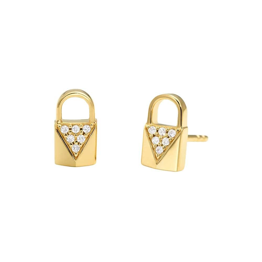 7ff9326eb978 Michael Kors Gold Plated Mercer Link Padlock Earrings Product Code:  MKC1010AN710