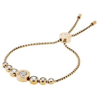 Gold Plated MK Logo Slider Bracelet