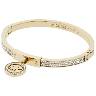 Gold Plated Stone Set Heritage Bangle