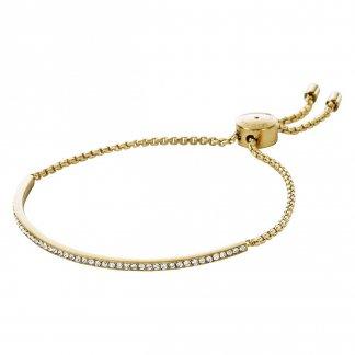 Gold Tone Crystal Set Slider Bracelet MKJ4130710