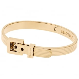 Gold Tone Fashion Buckle Bangle