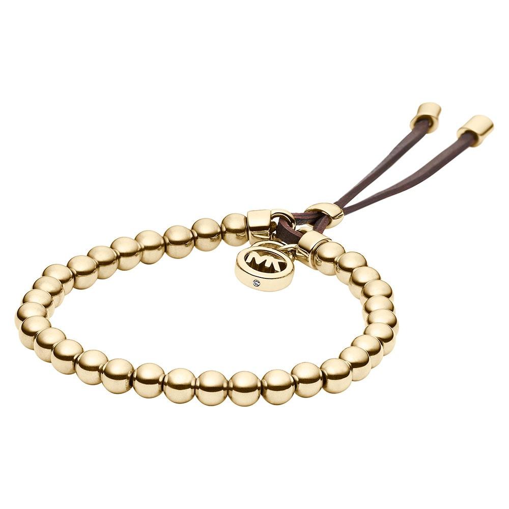 michael kors gold tone stretch cord bracelet jewellery