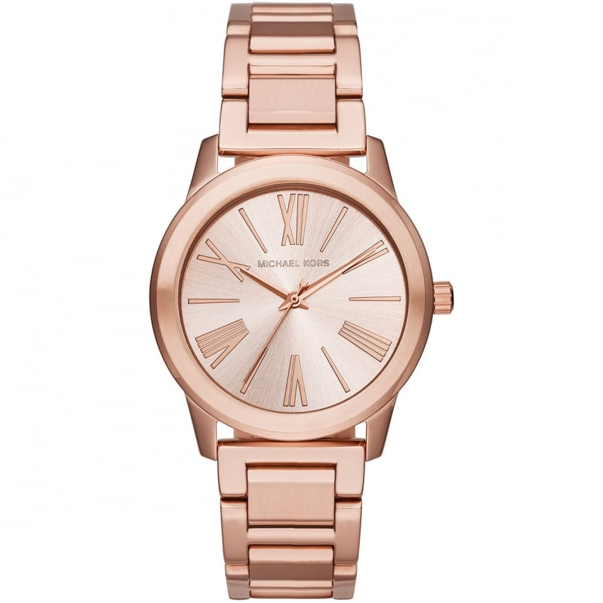 Michael Kors Hartman Ladies Rose Gold Tone Watch MK3491