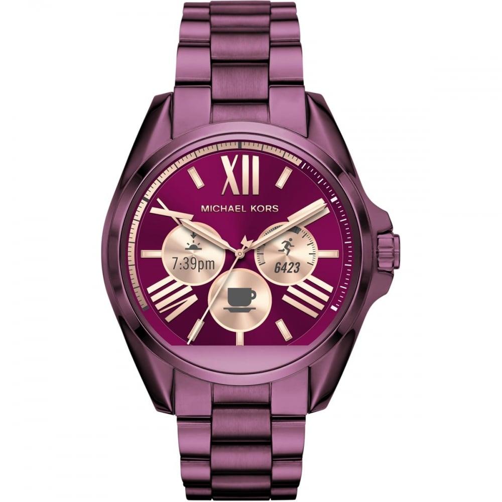 Michael Kors Ladies Access Purple Bradshaw Smartwatch Watches From