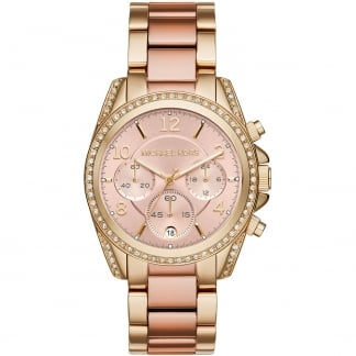 Ladies Blair Gold & Rose Chronograph Watch MK6316