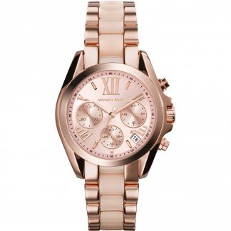 Ladies Bradshaw Rose & Blush Chronograph Watch MK6066