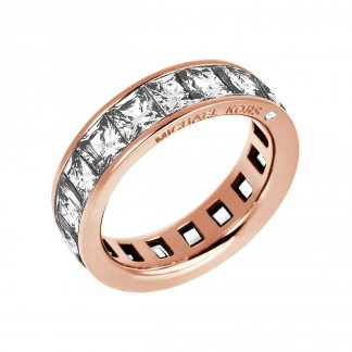 Brilliance Rose Gold Crystal Set Ring MKJ4752791