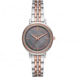 Ladies Cinthia Grey Mother of Pearl Two Tone Watch