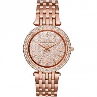 Ladies Darci Glitz Rose Gold Bracelet Watch MK3399