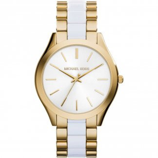 Ladies Dual Tone Slim Runway Watch MK4295