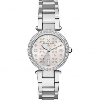 Ladies Floral Dial Mini Parker Watch