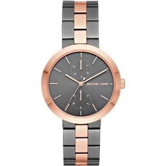 Ladies Garner Gunmetal & Rose Bracelet Watch MK6431