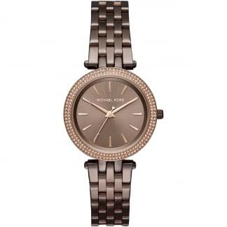Ladies Glitzy Chocolate Mini Darci Watch MK3553