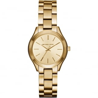 Ladies Gold Mini Slim Runway Watch MK3512