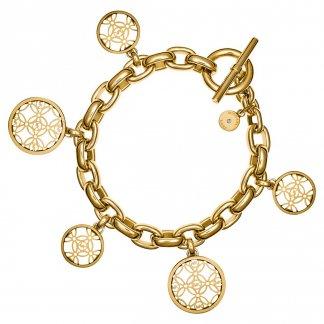 Gold Plated Logo Charm Bracelet MKJ4473710