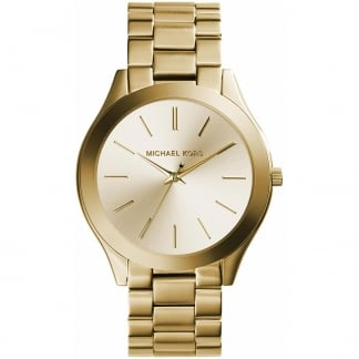 Ladies Gold Plated Slim Runway Watch MK3179