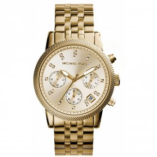 Ladies Gold PVD Stone Set Designer Ritz Watch MK5676