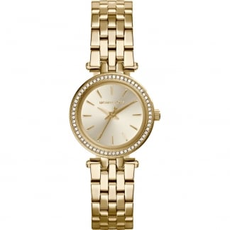 Ladies Gold PVD Stone Set Mini Darci Watch MK3295