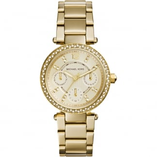 Ladies Gold Plated Stone Set Mini Parker Watch MK6056