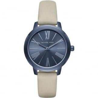 Ladies Hartman Navy IP Cement Strap Watch MK2628