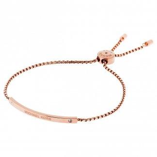 Logo Rose Gold Slider Bracelet MKJ4643791