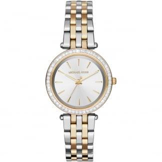 Ladies Two Tone Mini Darci Watch MK3405