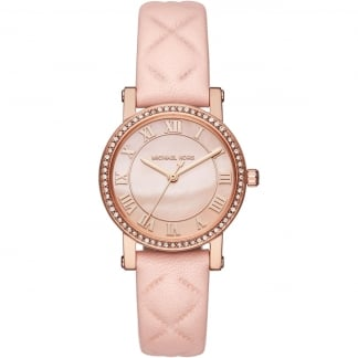Ladies Petite Norie Quilted Strap Watch